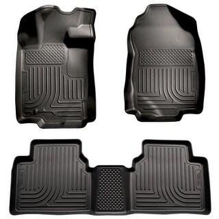 Husky Weatherbeater 2010-2012 Lincoln MKZ/Zephyr FWD Black Front & Rear Floor Mats/Liners
