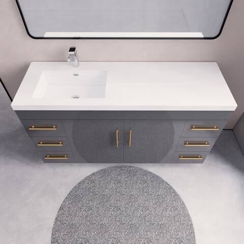 Eliza Freestanding Vanity with Reinforced Acrylic Sink