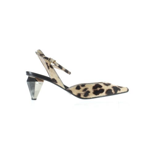 Marc Jacobs Womens The Slingback Camel Multi Ankle Strap Heels Size 8.5
