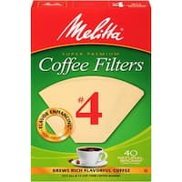 Melitta #4 Cone Coffee Filters, Natural Brown, 40 Count