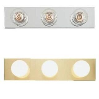 "Westinghouse 66405 3-Light Bathroom Bar Fixture, 18"" x 4.5"", Polished Brass"