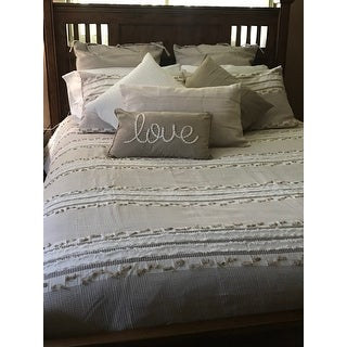 Lennon Organic Cotton Jacquard Comforter Set By Ink Ivy