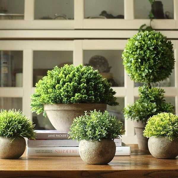 RusticReach Artificial Boxwood Topiary in Various Designs. Opens flyout.