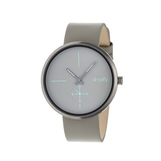 Simplify The 4400 Unisex Quartz Watch, Genuine Leather Band, Luminous Hands