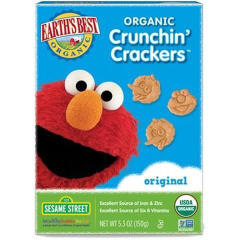 Earth's Best - Organic Sesame Street Original Crunchin' Crackers ( 6 - 5.3 OZ)