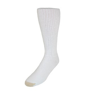 Gold Toe Men's Cotton Ultra Tec Over the Calf Socks (Pack of 3), Shoe Size 6 - 12 1/2, White
