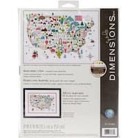 """Dimensions Counted Cross Stitch Kit 14""""X10""""-Illustrated Life (14 Count)"""