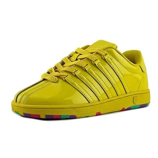 K-Swiss Varsity Low Youth Round Toe Patent Leather Yellow Sneakers
