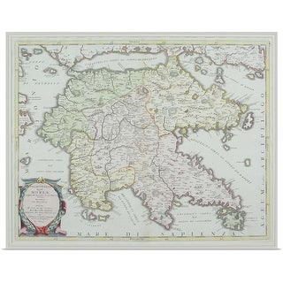 """""""Map of Greece"""" Poster Print"""