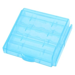 Portable Blue Plastic Battery Case Holder for 4 AA Batteries