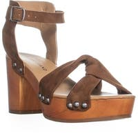 Lucky Brand Whitneigh Knotted Front Block Heel Sandals, Cedar