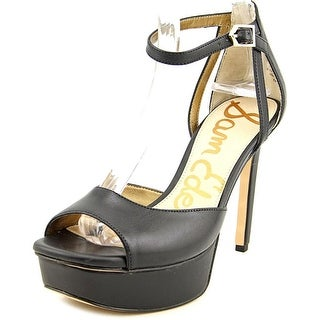 Sam Edelman Kayde Women Open Toe Leather Black Platform Heel