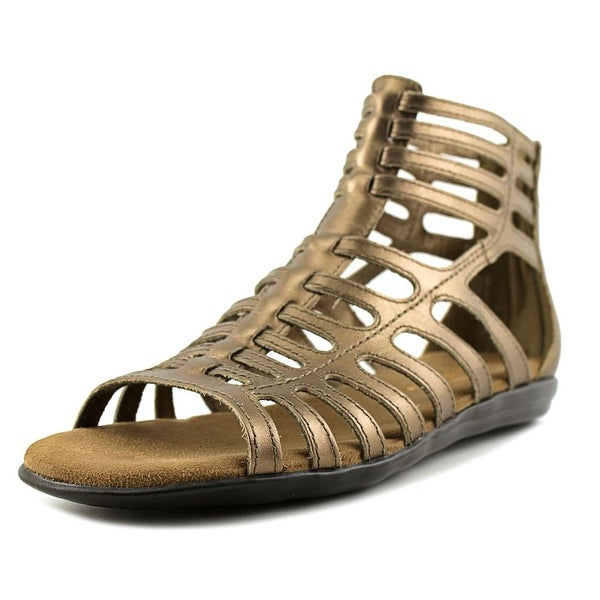 Aerosoles Chlear Sky Women Open Toe Leather Bronze Gladiator Sandal