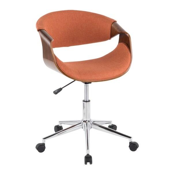 Carson Carrington Kanasen Mid-century Modern Walnut Wood Office Chair - N/A. Opens flyout.