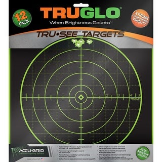 Truglo tg10a12 truglo tru-see reactive target 100 yard 12x12 12-pack