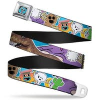 Gumball Face Close Up Black Full Color Tawg Character Collage Penny Seatbelt Belt