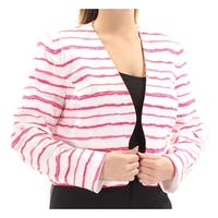 NINE WEST Womens Pink Striped Suit Jacket  Size: 14