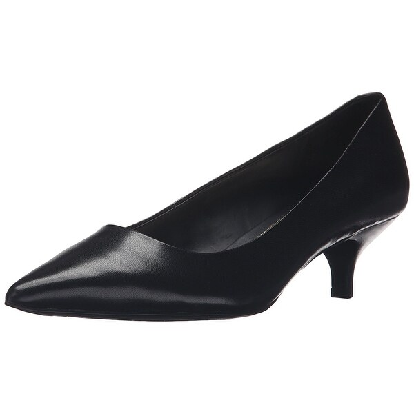 LAUREN by Ralph Lauren Womens Abbot Leather Pointed Toe, Black Kidskin, Size 8.0