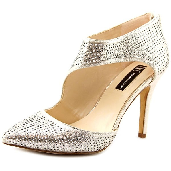 INC International Concepts Zizi Women Pointed Toe Synthetic Gold Heels