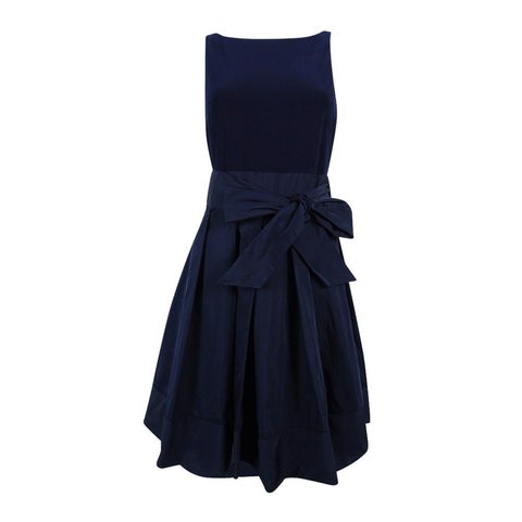 Lauren Ralph Lauren Women's Petite Pleated Cocktail Dress