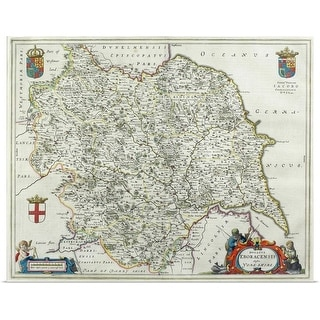 """Map of Yorkshire , England"" Poster Print"