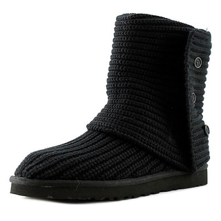 Ugg Australia Cardy Women Round Toe Canvas Black Winter Boot