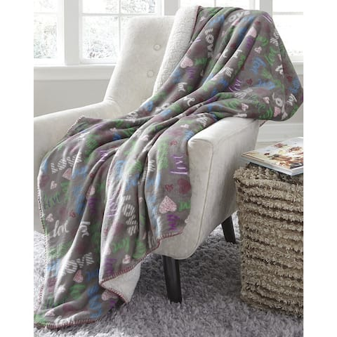 Clarisse Youth Throw Blanket in Grey