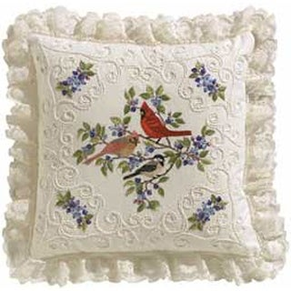 """Birds And Berries Candlewicking Embroidery Kit-14""""X14"""""""