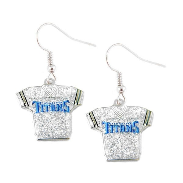 sale retailer 139e3 68d1a NFL Tennessee Titans Glitter Jerseys Sparkle Dangle logo Earring Set Charm  Gift