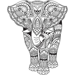 "Kaisercolour Coloring Poster 27""X19""-Elephant"