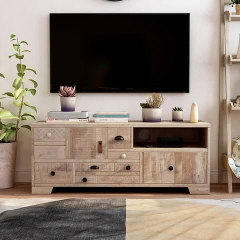Furniture of America Carina 49-inch Solid Wood 1-shelf TV Stand