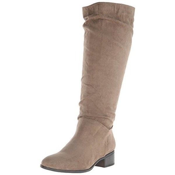 Madden Girl Womens Persiss Riding Boots Faux Suede Knee High