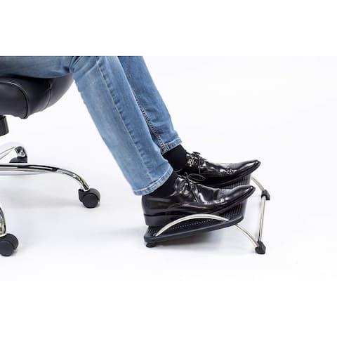 "Mount-It! Ergonomic Footrest Adjustable Angle and Height for Under Desk Support, 18""x14"", Black (MI-7803)"