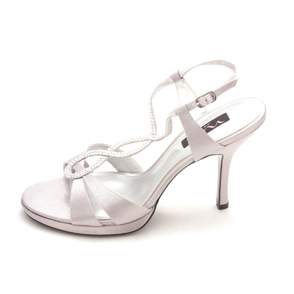 Nina Womens Graysen Canvas Open Toe Formal T-Strap Sandals - 9