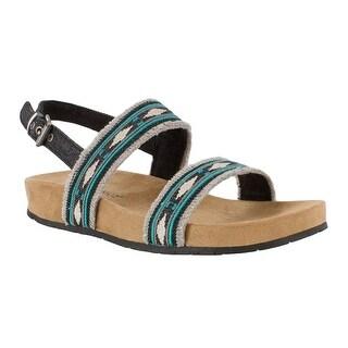 Minnetonka Womens Melody Fabric Open Toe Casual Slingback Sandals