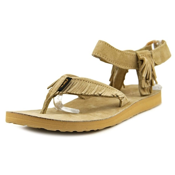 Teva Original Sandal Leather Fringe Women Open Toe Leather Thong Sandal