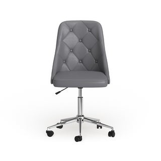 Link to Carson Carrington Ockelbo Button-tufted Office Chair with Faux Leather - N/A Similar Items in Home Office Furniture