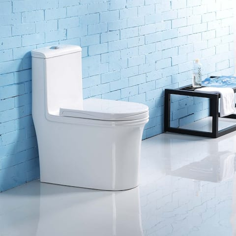 Etis Dual-Flush Elongated One-Piece Toilet