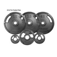 G2 Dual Grip Thin Line Rubber Encased Olympic Plate - 5 lbs