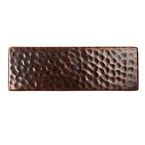 "The Copper Factory CF145 6 x 2 x 1/4"" Solid Hammered Copper 6""x2"""