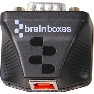 """Brainboxes US-235 Brainboxes Ultra 1 Port RS232 USB to Serial Adapter - 1 x DB-9 Male Serial - 1 x Type B Male USB"""
