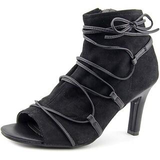 Rialto Rochelle Women Open-Toe Synthetic Black Ankle Boot
