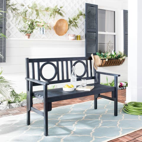 "Safavieh Piedmont Dark Slate Grey Folding Bench - 48.4"" x 23.6"" x 34.7"""