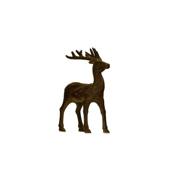 "8.25"" Luxury Lodge Small Brown Standing Deer Table Top Christmas Decoration"