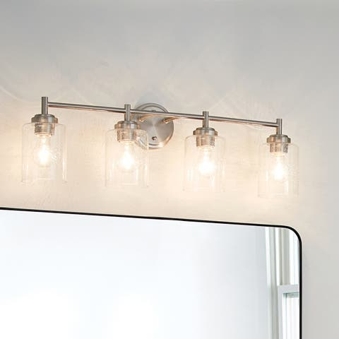 The Gray Barn Saffron 4-light Brushed Nickel Bath/Vanity Light - Brushed nickel