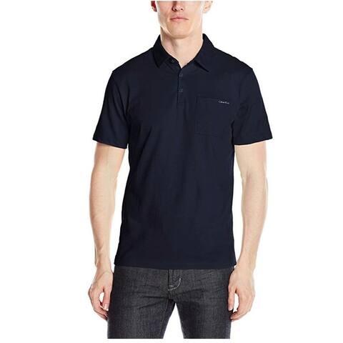 55242a0f89e Calvin Klein Men's Cotton Pocket Polo Cadet Navy Size 2-Extra Large - Blue -
