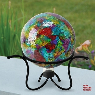 Link to Alpine Corporation Black Glass Gazing Globe Metal Stand Similar Items in Outdoor Decor