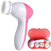 5 in 1 Multifunction Electric Electronic Beauty Face Facial Cleansing Cleanser Spin Brush and Massager Scrubber Exfoliat