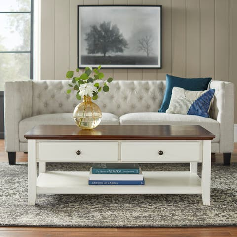 "Simple Living Charleston Coffee Table - 18.1""H x 47.6""W x 23.6""D"