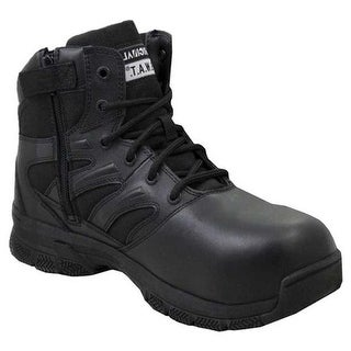 "Original S.W.A.T. Men's Force 6"" Side Zip Safety Boot Black Full Grain Leather/Nylon"